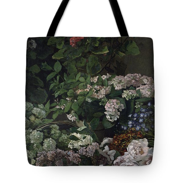 Spring Flowers Tote Bag by Claude Monet