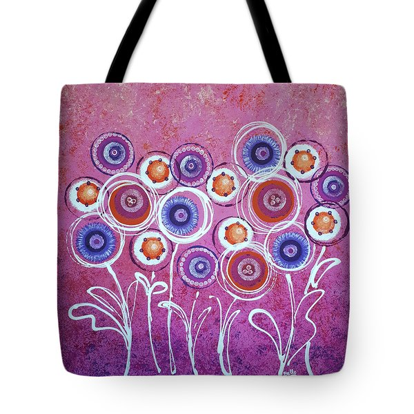 Pink New Flowers Tote Bag