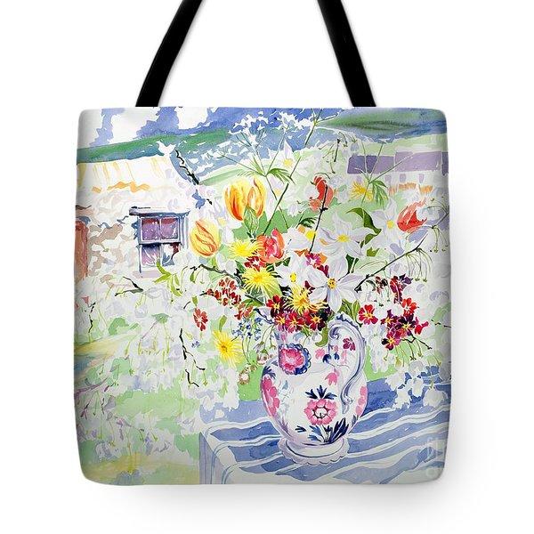 Spring Flowers On The Island Tote Bag by Elizabeth Jane Lloyd