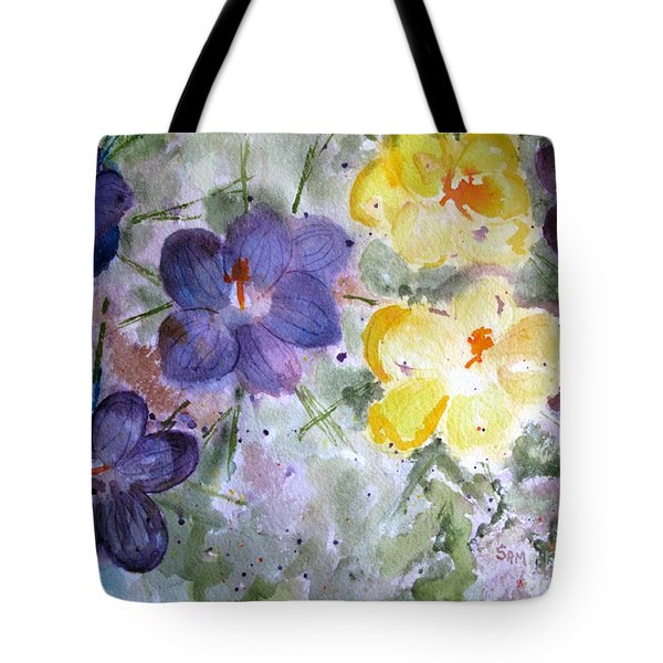 Spring Flowers Tote Bag by Sandy McIntire