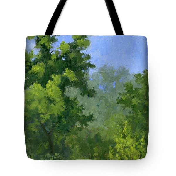 Tote Bag featuring the painting Spring Foliage by David King