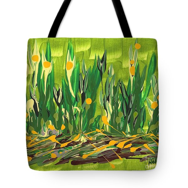 Tote Bag featuring the painting Spring Garden by Holly Carmichael