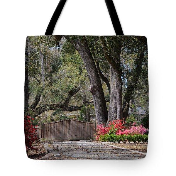 Spring Gate Tote Bag by Linda Brown