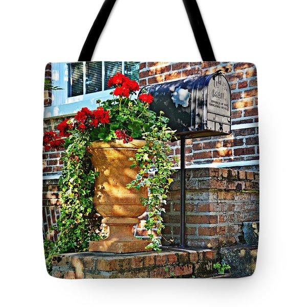 Spring Geraniums Tote Bag by Linda Brown