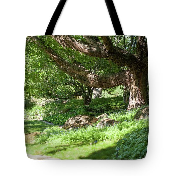 Tote Bag featuring the photograph Spring Greenery  by Jenny Rainbow