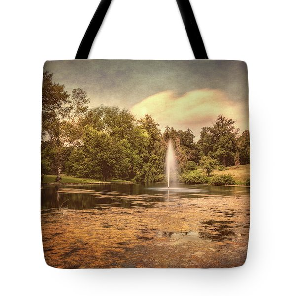 Spring Grove Water Feature Tote Bag