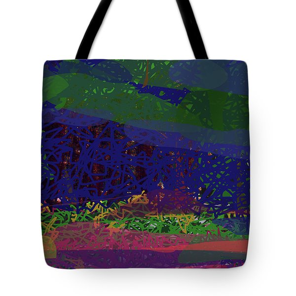 Tote Bag featuring the digital art Spring Homage To Jackson by Walter Fahmy