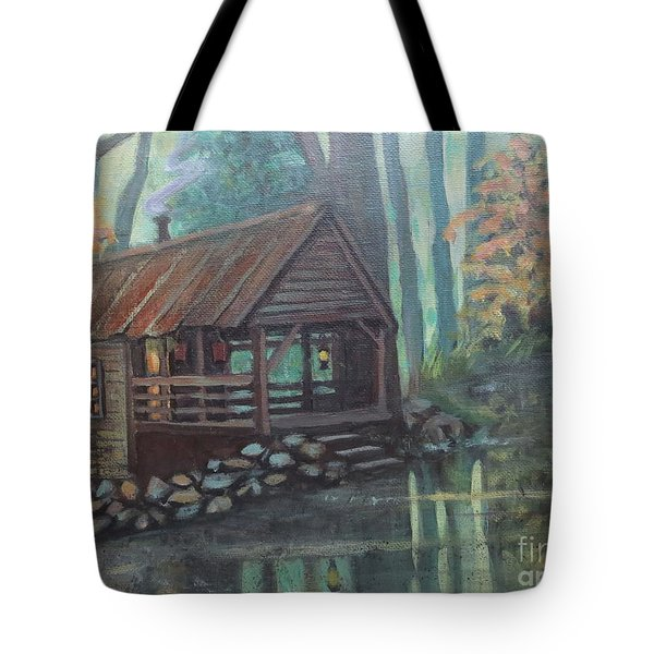 Spring House Road Reflections Tote Bag by Gretchen Allen