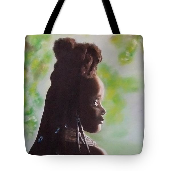 Tote Bag featuring the painting Spring In Africa by Annemeet Hasidi- van der Leij