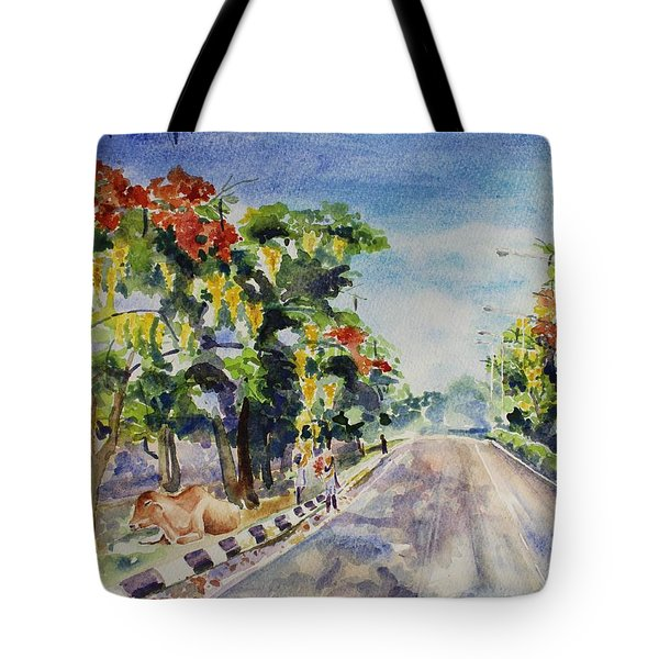 Tote Bag featuring the painting Spring In India by Geeta Biswas