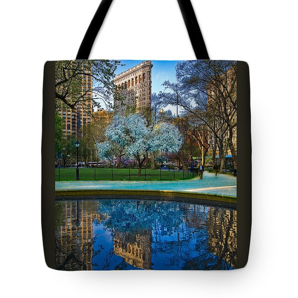 Tote Bag featuring the photograph Spring In Madison Square Park by Chris Lord