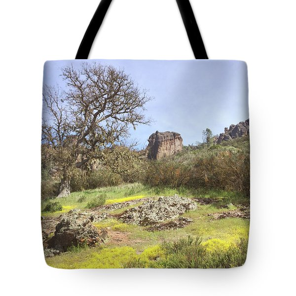 Tote Bag featuring the photograph Spring In Pinnacles National Park by Art Block Collections