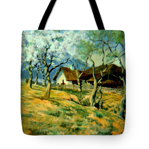 Spring In Poland Tote Bag by Henryk Gorecki