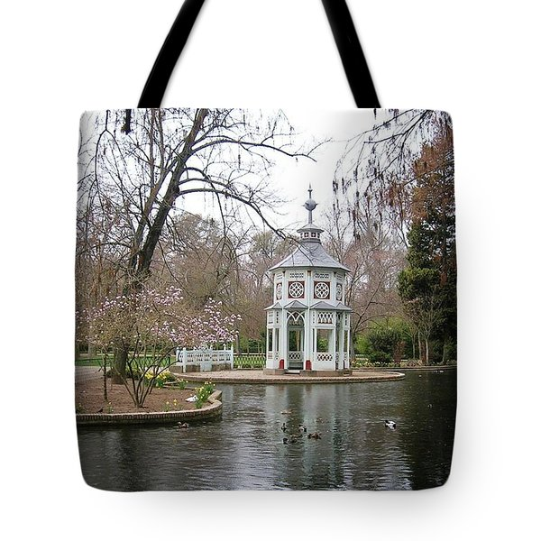 Spring In The Aranjuez Gardens Spain Tote Bag by Valerie Ornstein