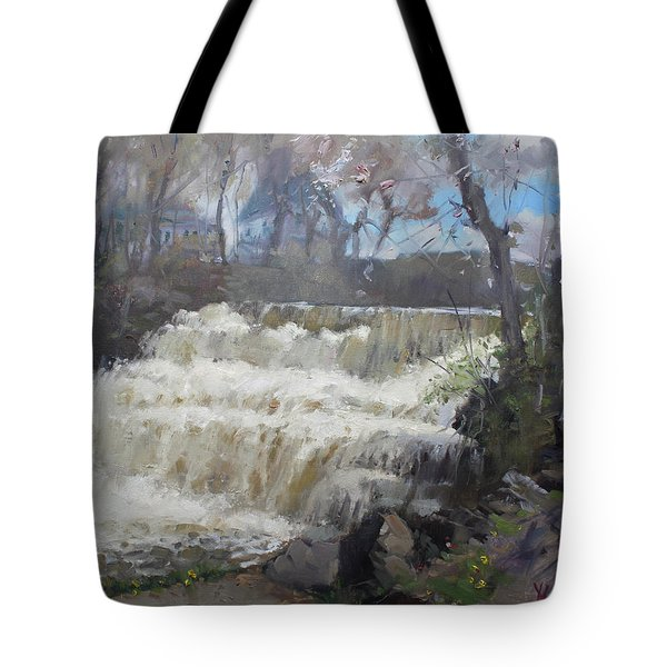 Spring In Williamsville Falls Tote Bag