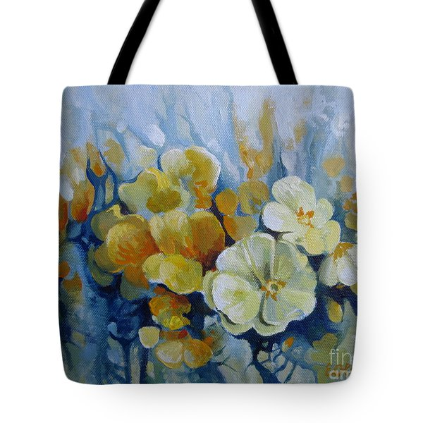 Tote Bag featuring the painting Spring Inflorescence by Elena Oleniuc