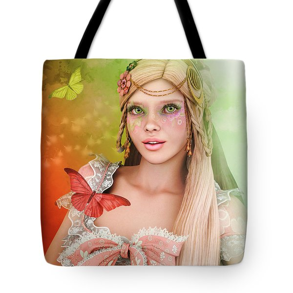 Tote Bag featuring the digital art Spring Is In The Air by Jutta Maria Pusl