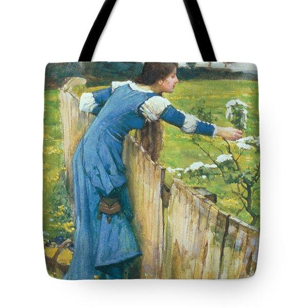 Spring Tote Bag by John William Waterhouse