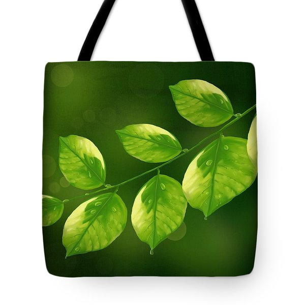 Tote Bag featuring the painting Spring Life by Veronica Minozzi