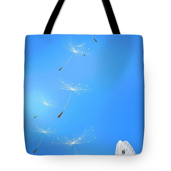 Tote Bag featuring the painting Spring Lightness by Veronica Minozzi