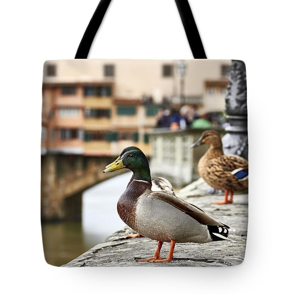 Spring Love Ducks Tote Bag