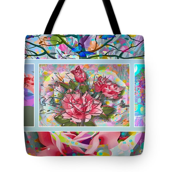 Tote Bag featuring the digital art Spring Medley by Eleni Mac Synodinos