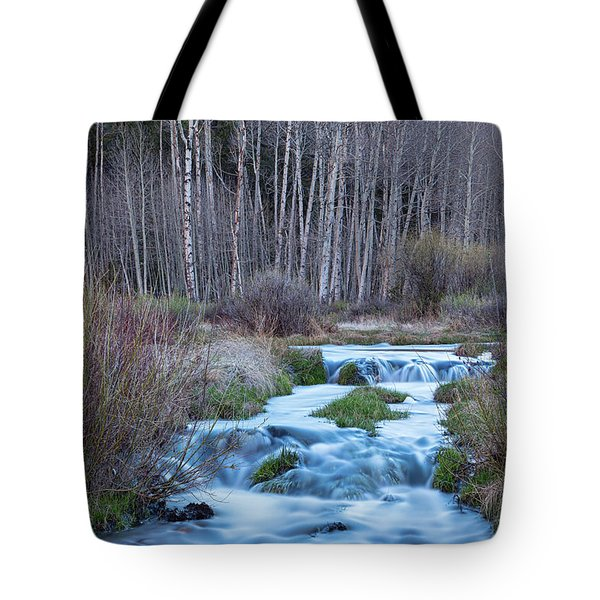 Spring Melt Off Flowing Down From Bonanza Tote Bag by James BO Insogna