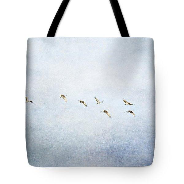 Spring Migration 2 - Textured Tote Bag