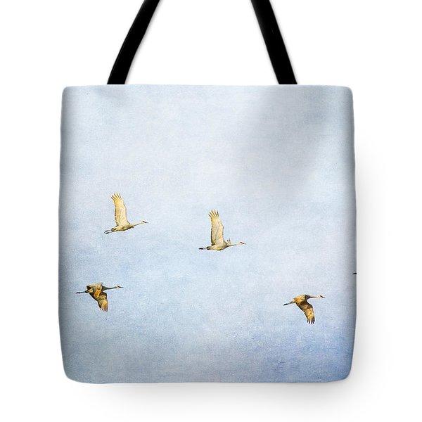 Spring Migration 3 - Textured Tote Bag