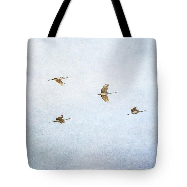 Spring Migration 4 - Textured Tote Bag