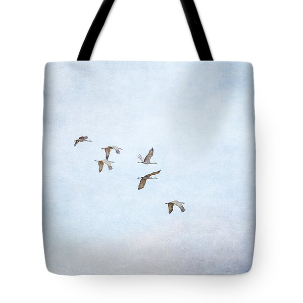Spring Migration - Textured Tote Bag