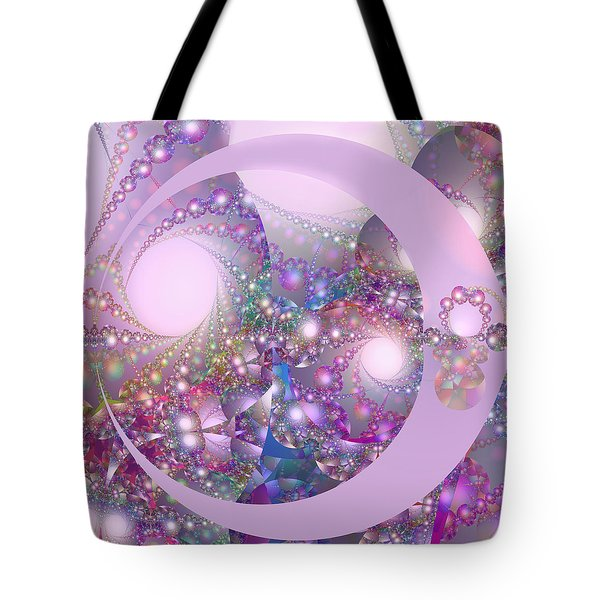 Spring Moon Bubble Fractal Tote Bag