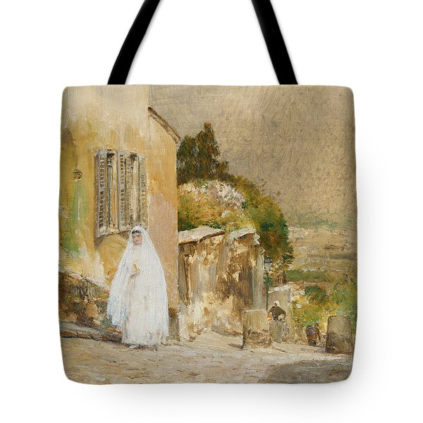 Spring Morning At Montmartre Tote Bag