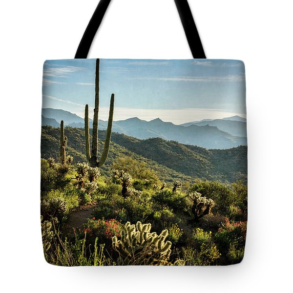 Tote Bag featuring the photograph Spring Morning In The Sonoran  by Saija Lehtonen