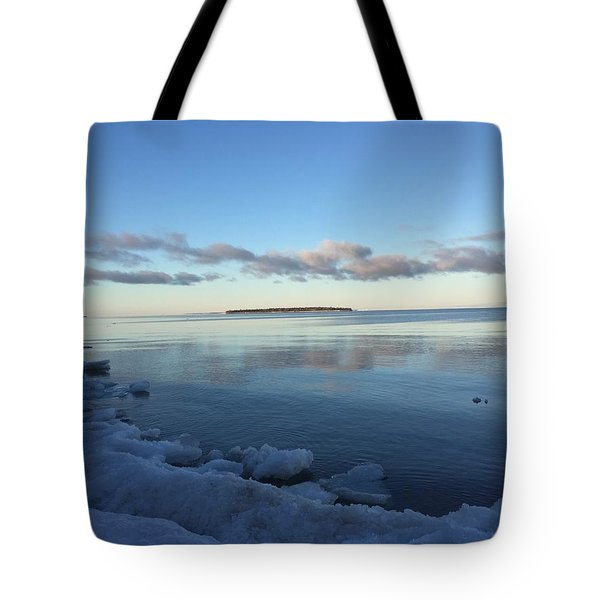 Tote Bag featuring the photograph Spring Morning On Lake Superior by Paula Brown