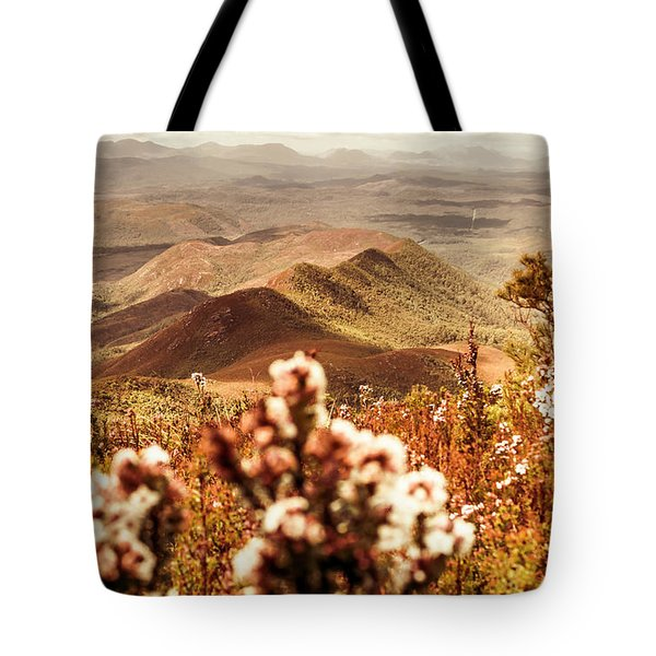 Spring Mountain Blossoms Tote Bag
