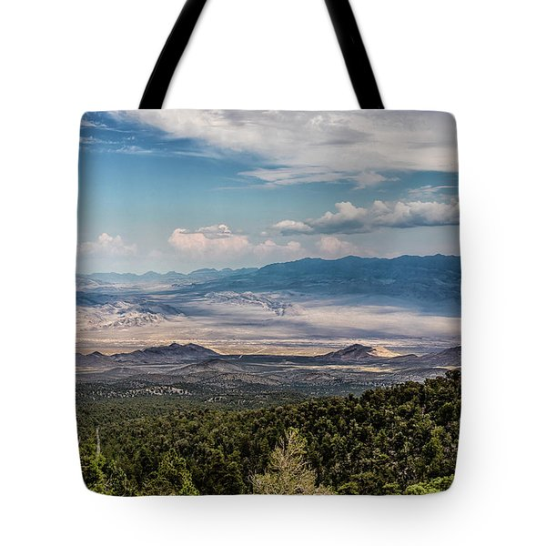 Tote Bag featuring the photograph Spring Mountains Desert View by Michael Rogers