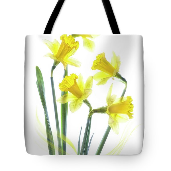 Spring Narcissus Tote Bag by Jacky Parker