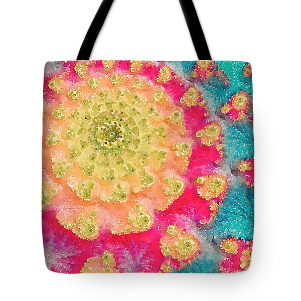 Tote Bag featuring the digital art Spring On Parade 2 by Bonnie Bruno