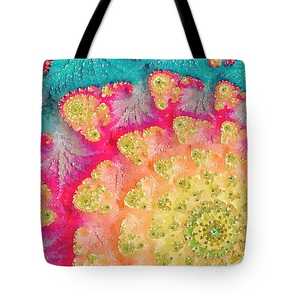 Tote Bag featuring the digital art Spring On Parade by Bonnie Bruno