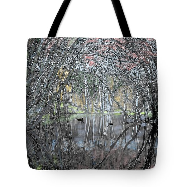 Spring On The Backwater Tote Bag by John Selmer Sr