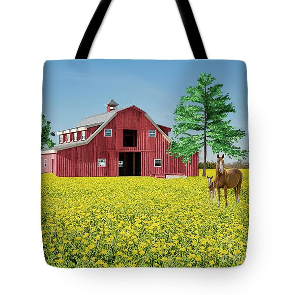 Spring On The Farm Tote Bag by Bonnie Barry