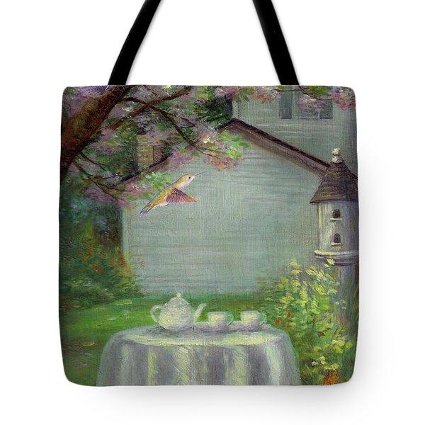 Spring Orchard Teatime Tote Bag