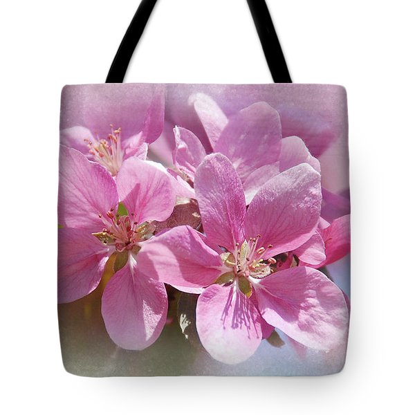 Tote Bag featuring the photograph Spring Cherry Blossoms by Elaine Manley