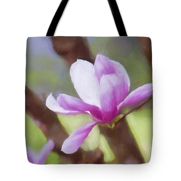 Spring Pink Saucer Magnolia Tote Bag