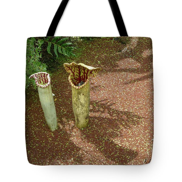 Spring Pitcher Plants Tote Bag