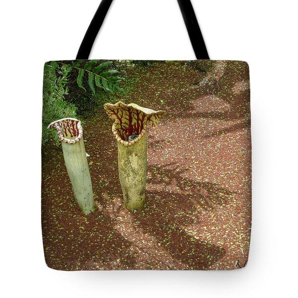 Spring Pitcher Plants Tote Bag