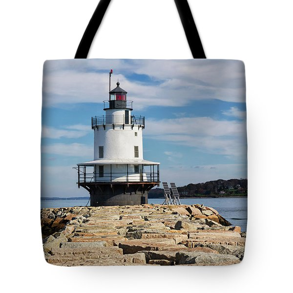 Spring Point Ledge Light Tote Bag