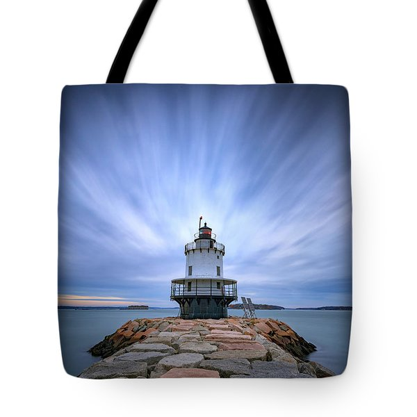 Spring Point Ledge Light Station Tote Bag