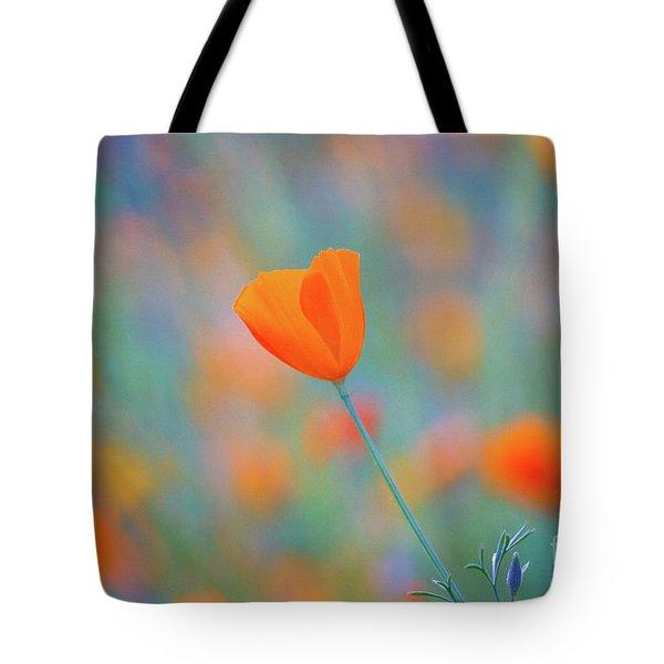 Spring Poppy Tote Bag